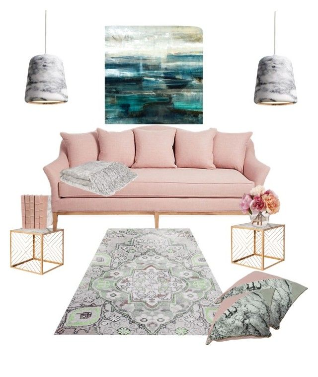 Blush and Marble Living Room\