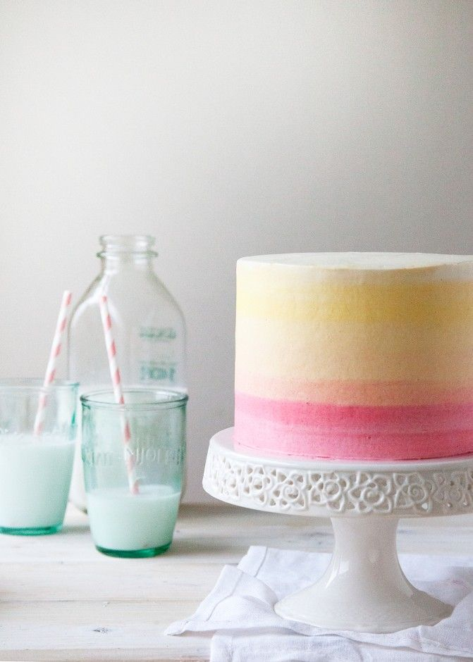 How To Ice A Cake The Perfect Ombre Cake Attack