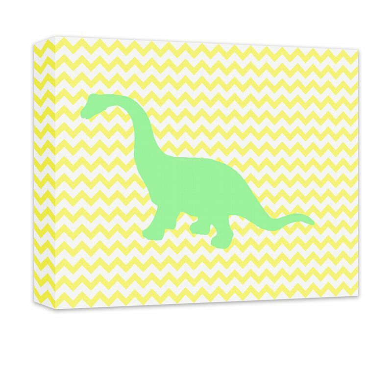 Brachiosaurus Children\'s Canvas and Print Wall Art. Children\'s ...