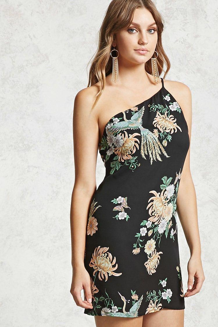 Floral OneShoulder Dress Women Dresses 2000135143
