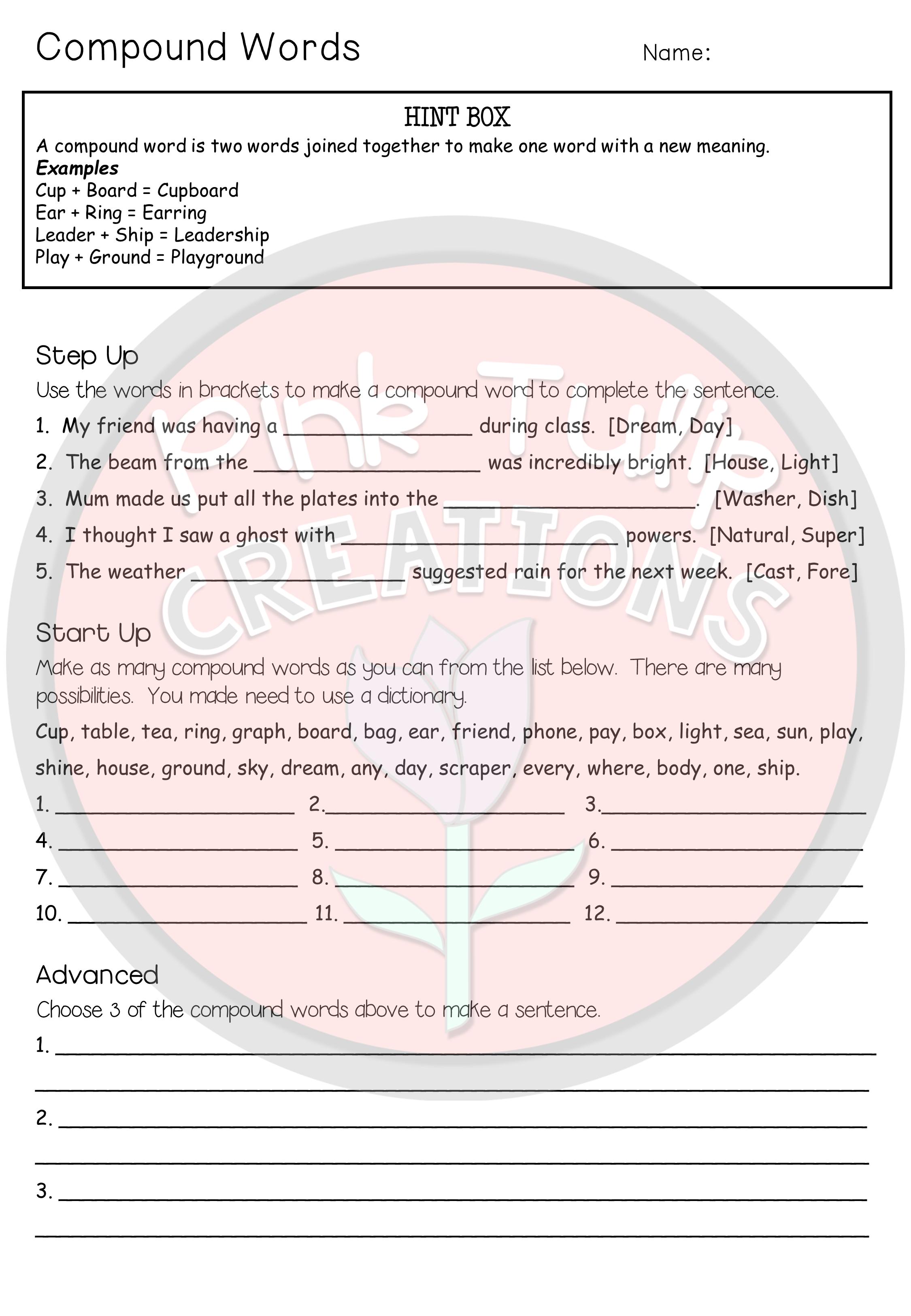 Grammar Worksheet Pack