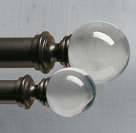 estate crystal ball finials oil