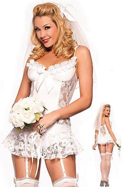 Lady Fashion White Bridesmaid Dress, Sexy Bridal Gowns, Wedding ...