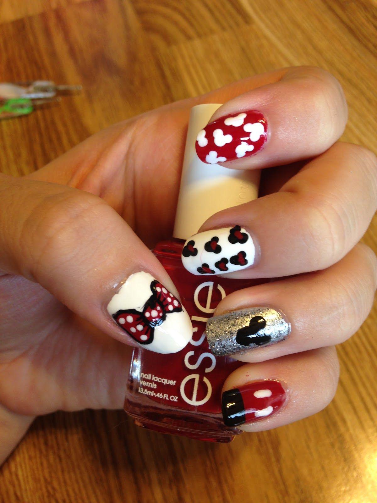 Curlyhaired Nail Designs: Disney Themed Nail Art Tutorial ºoº - Nail ...