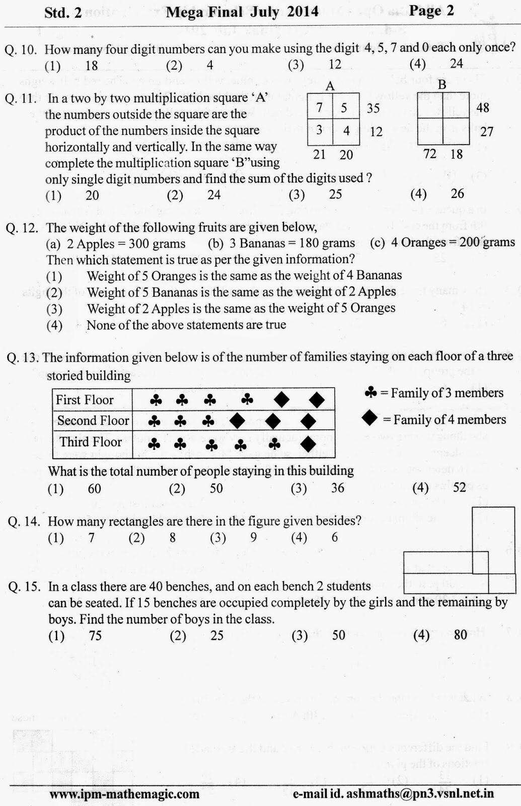 Ipm Mathemagic Final Qns Paper Grade 2 Math Tricks Multiplication Squares Ipm [ 1600 x 1035 Pixel ]