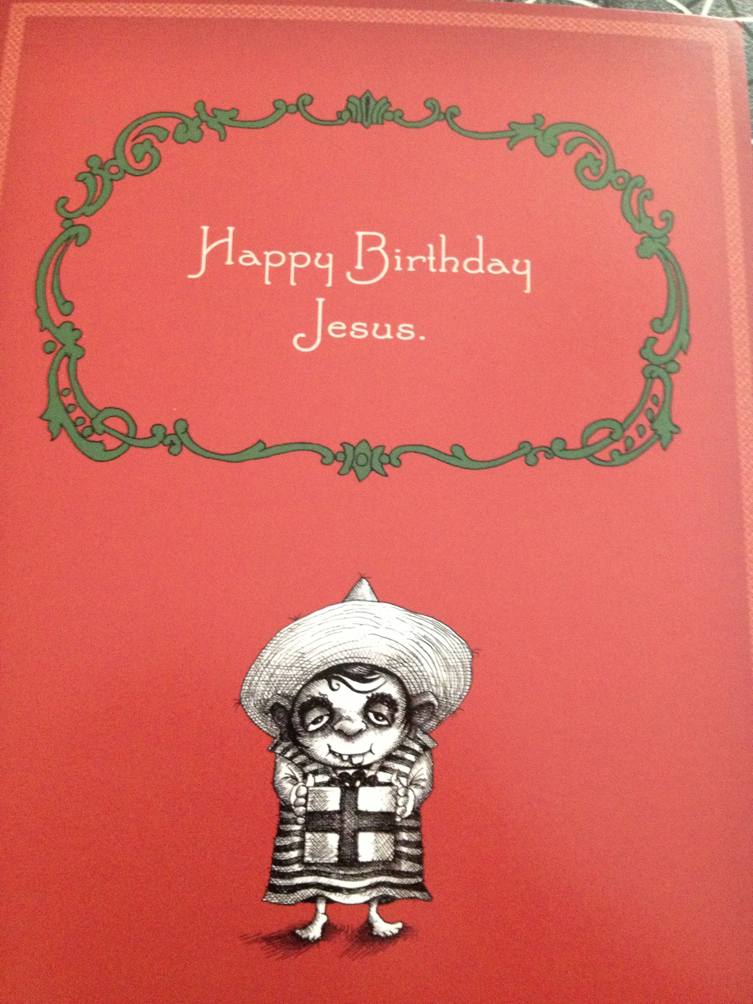 Funniest Christmas card front Inside says its a birthday card for