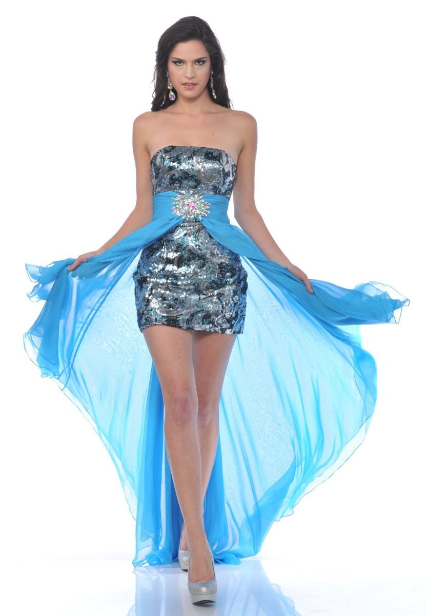 Sexy Sequin Silver Satin Short Teal Cocktail Mini Dress Long ...