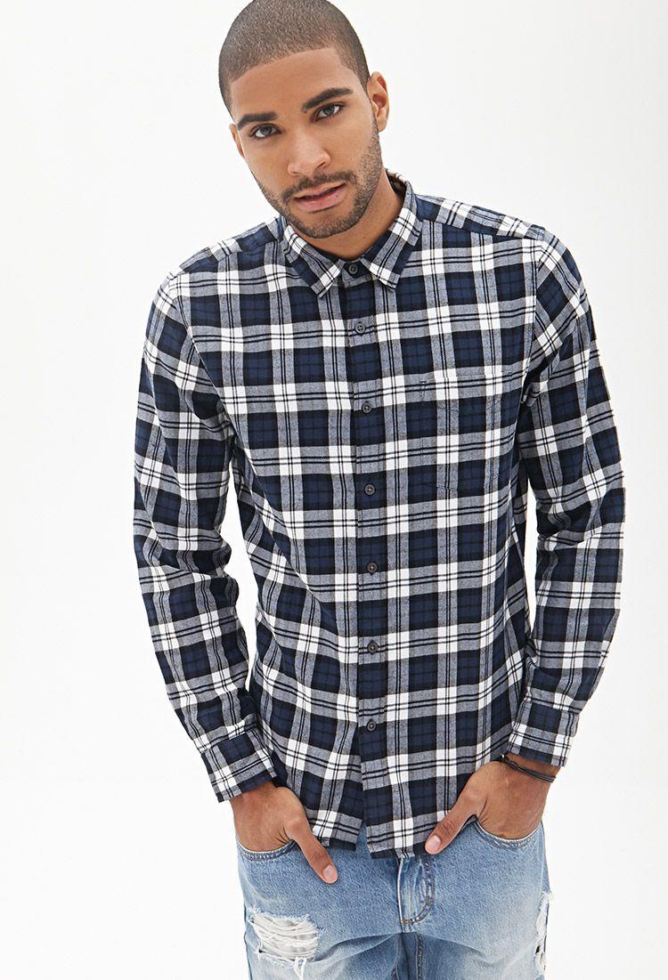 Cotton Plaid Shirt 21 Men 2000104794 Roupas Moda Vestiario