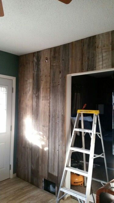 Our Barnwood Living Room Wall..reclaimed Wood Put To Good Use