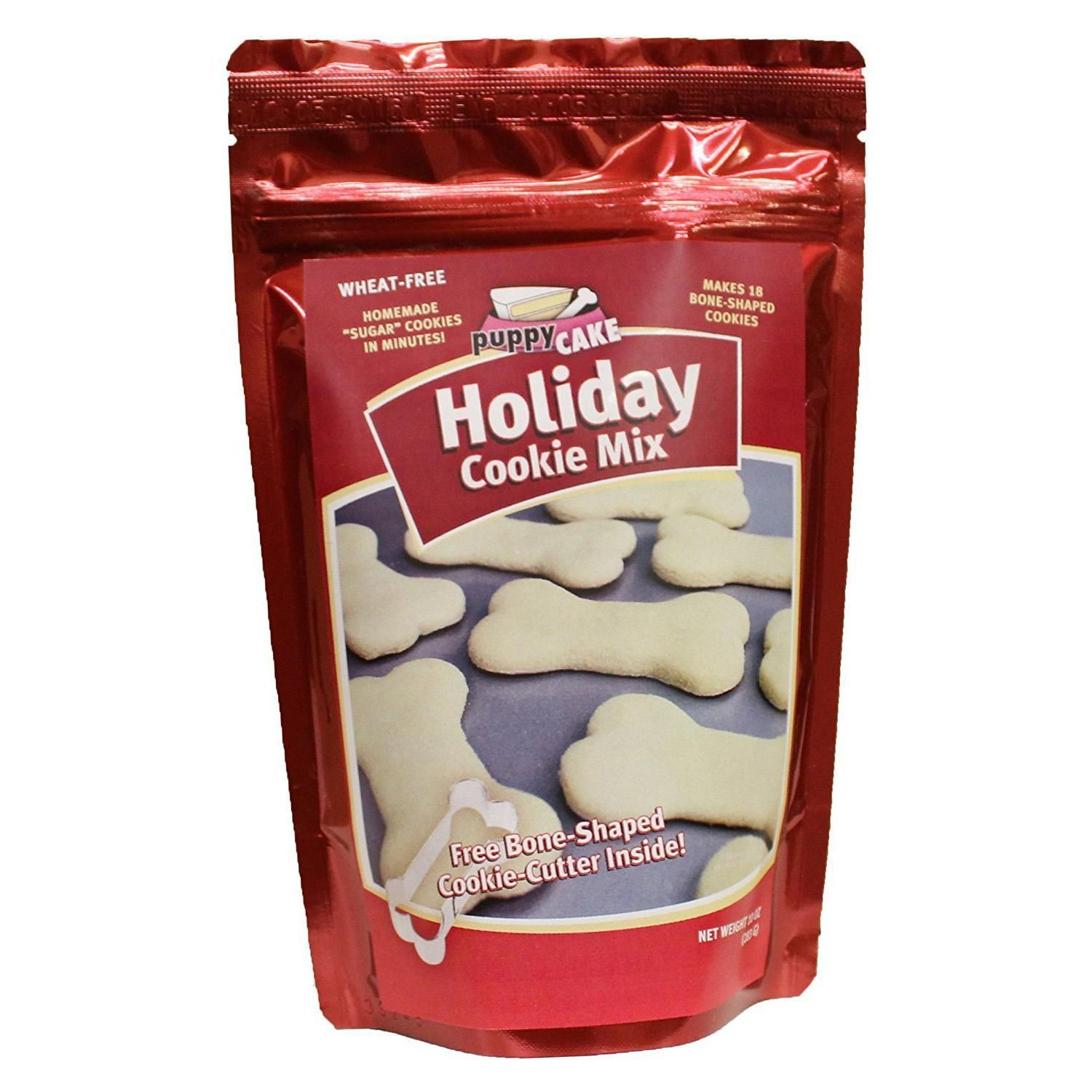 Puppy Cake Holiday Dog Cookie Mix With Cookie Cutter Dog Biscuit