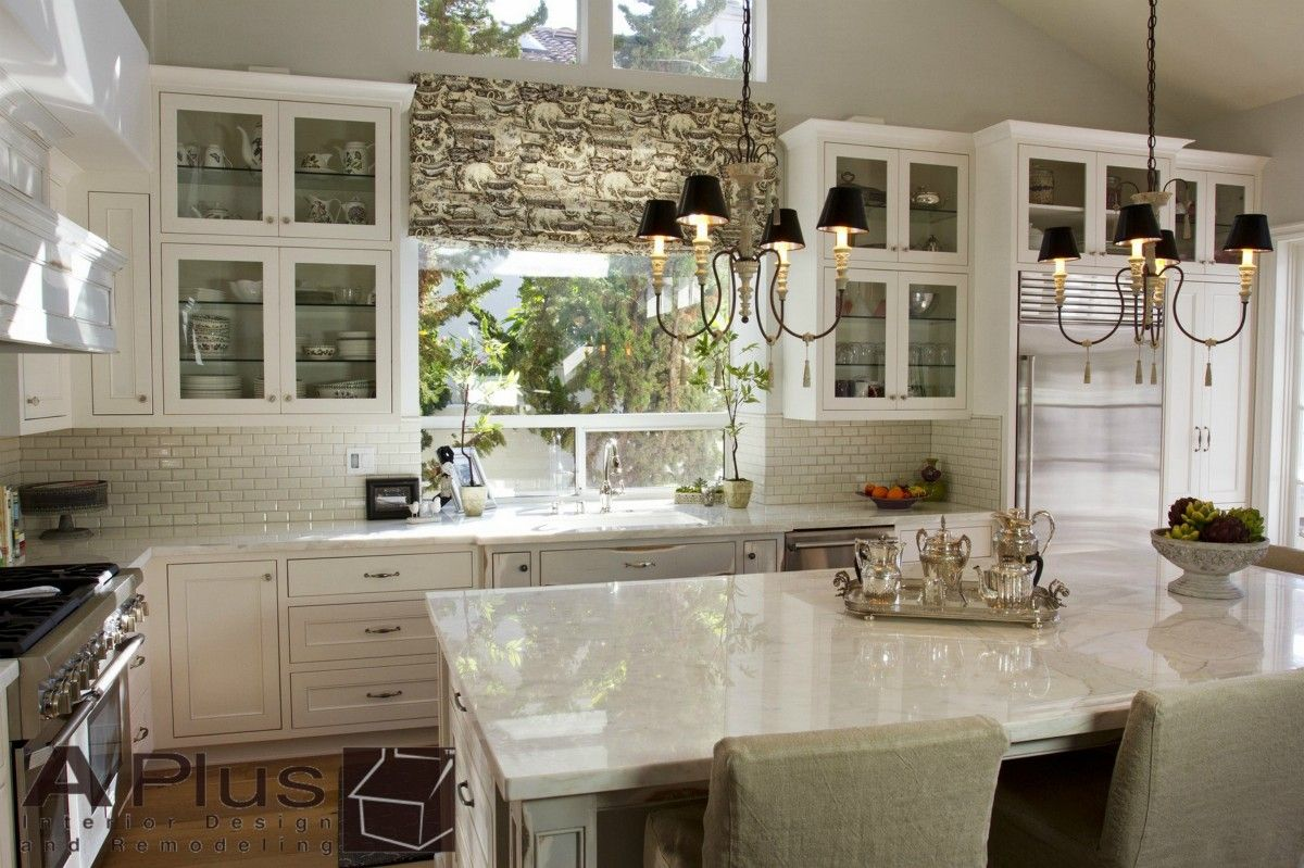 Costa Mesa Home kitchen Remodel with white