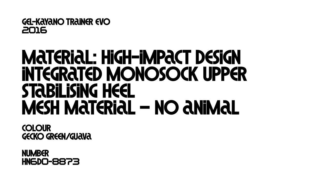 asics tiger  brand typeface  u0131