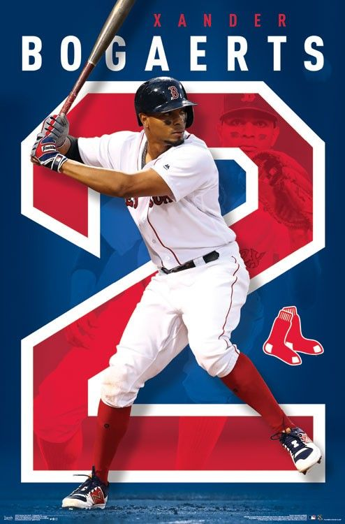 Boston Red Sox Xander Bogaerts Boston Red Sox Red Sox Boston Red Sox Poster