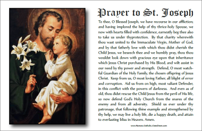 picture about Printable Prayer to St. Joseph named Prayer In the direction of St Joseph ❤+❤ Printable Prayer Card and Coloring