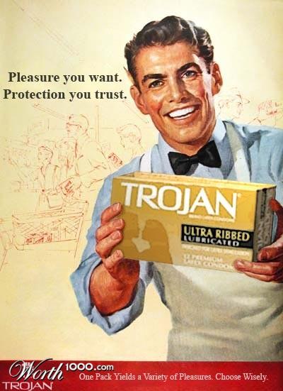 Trojan condom advertisement evolve