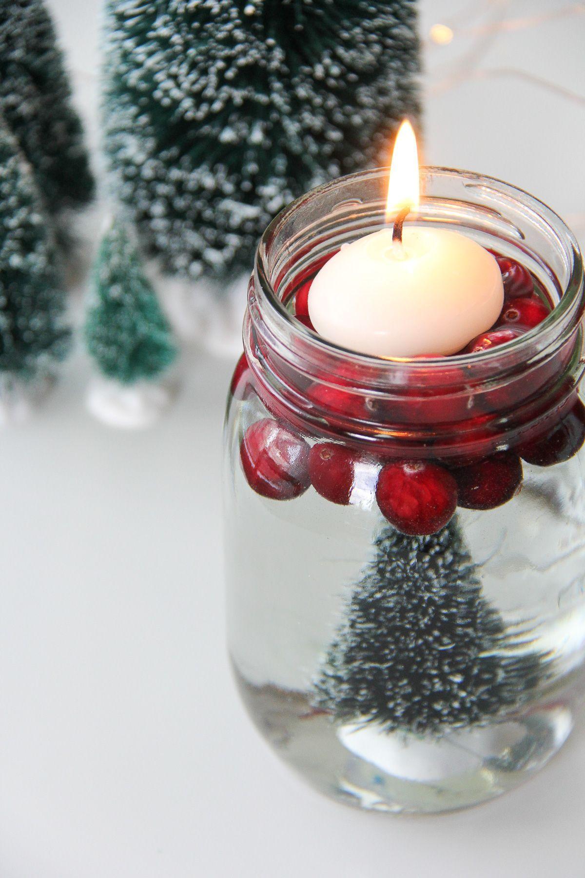 Bottle Brush Mason Jar Candles   Mason jar candles, Candle jars, Traditional christmas decorations