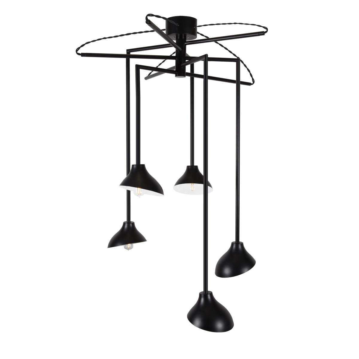 Pendelleuchte E14 Metall Modern schwarz