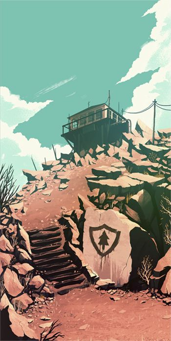 Concept Illustration By Olly Moss For The Game Firewatch One Of Many Beautiful Renderings Kotaku Is Looking Very Pretty