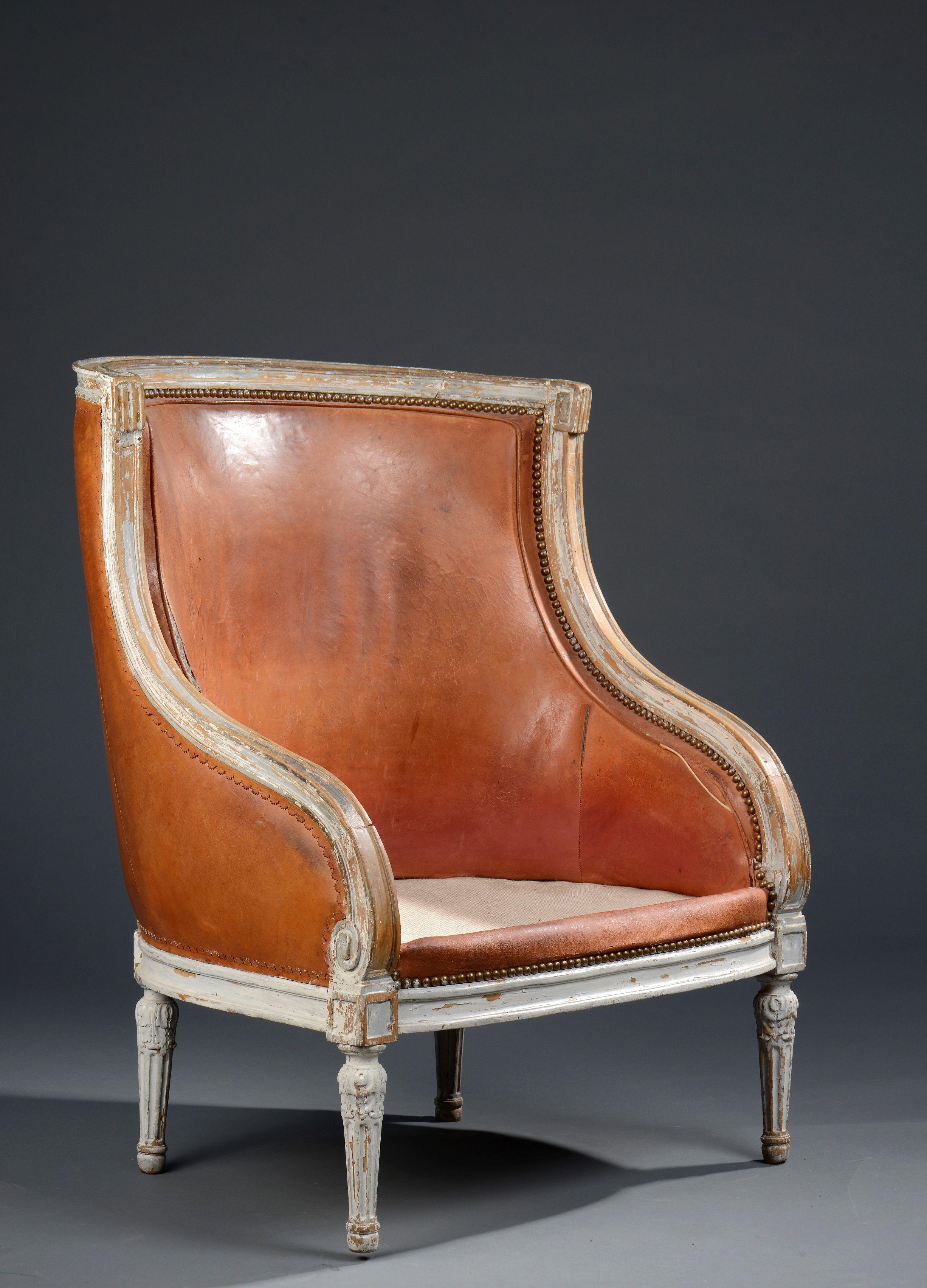 Revolving Chair Features Dental Bergere En Bois Mouluré Et Laqué à Dossier Gondole D