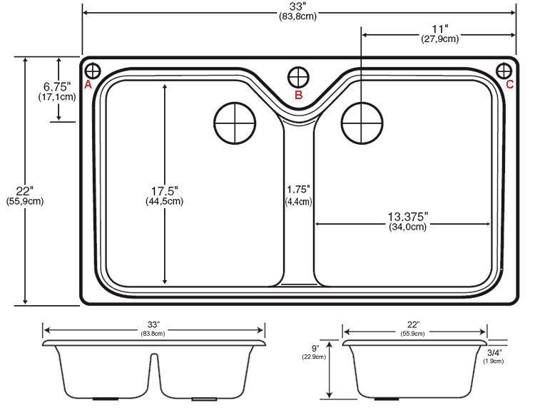 Standard Undermount Kitchen Sink Size Kitchen Ideas In 2020 Kitchen Sink Sizes Sink Sizes Undermount Kitchen Sinks