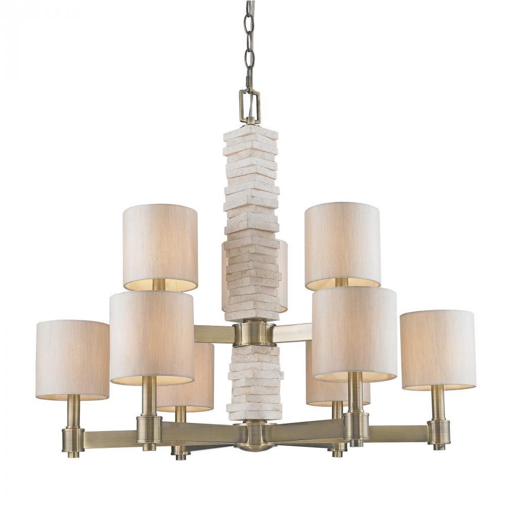 9 Light Chandelier  SKU V36-1212-9-ab | CartWright Lighting  sc 1 st  Pinterest & 9 Light Chandelier : SKU V36-1212-9-ab | CartWright Lighting | For ... azcodes.com