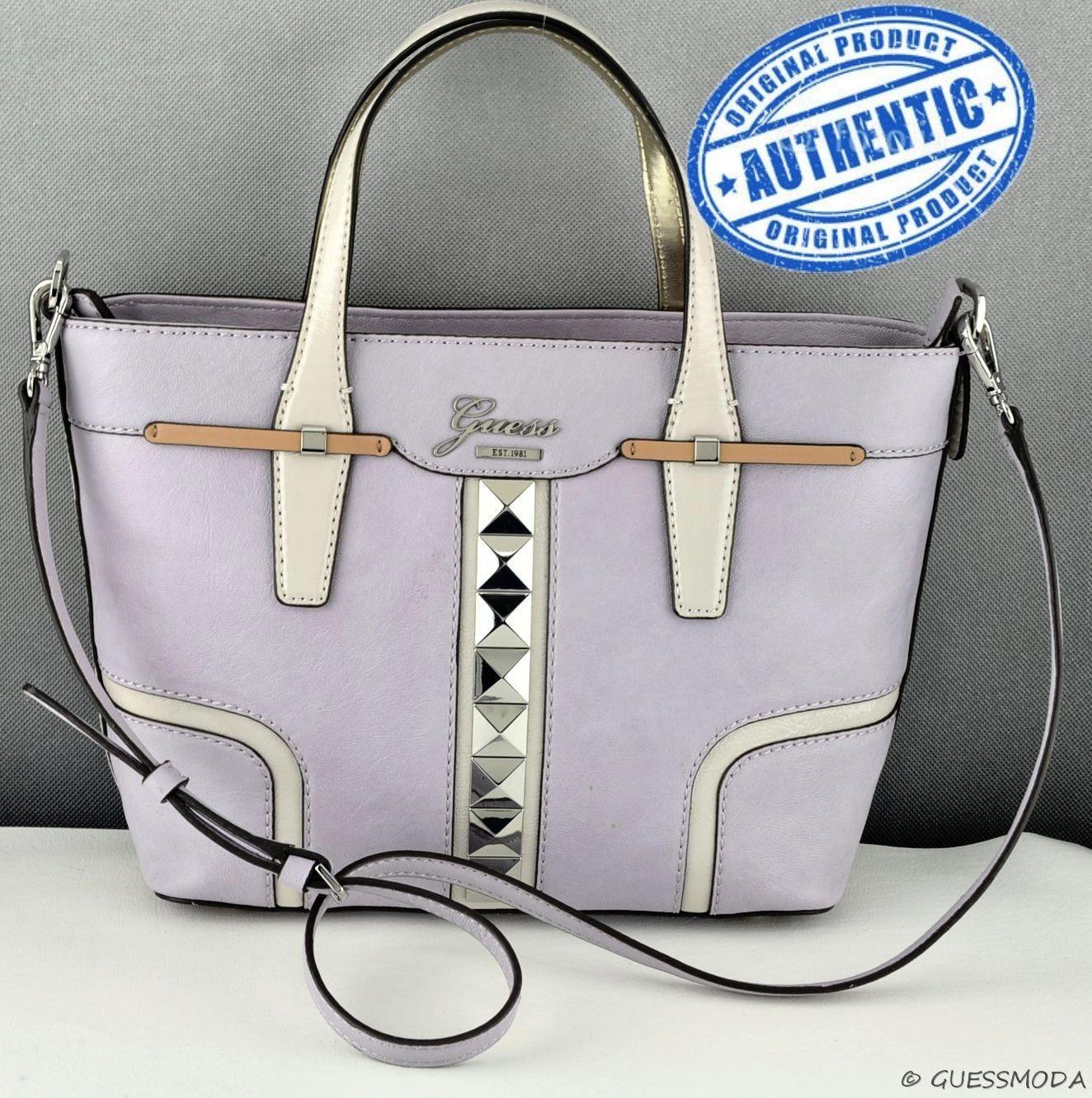Guess Handbag Las Gladis Satchel Bag Lilac Multi Purse Usa