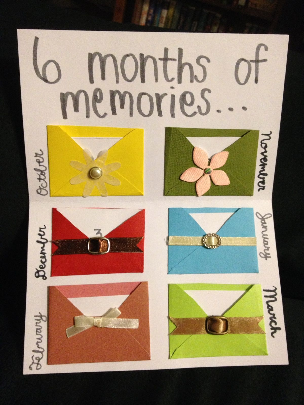 cute 6 month anniversary cards