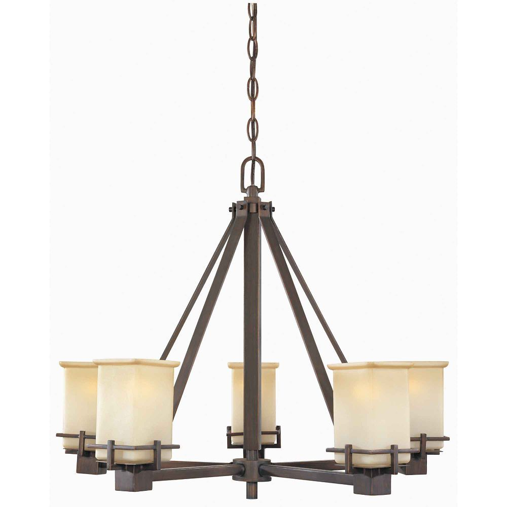 5-light oil brushed bronze chandelier @home depot $199 | house