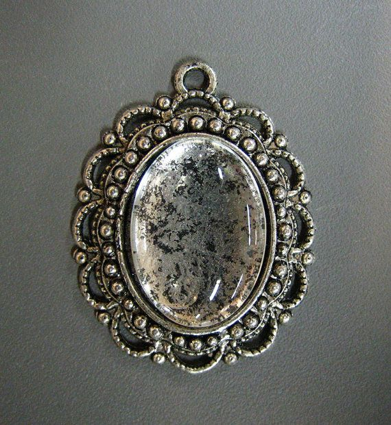 8 13x18mm silver plated pendant settings with by bunnysundries, $9.00