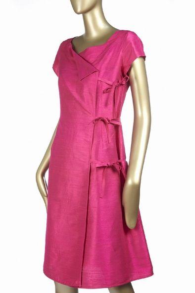 robe élégante en soie sauvage, pour une allure de première