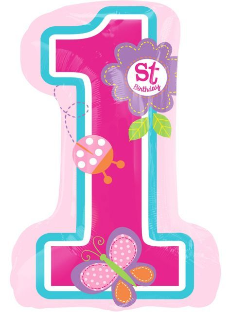Giant Sweet Girl 1st Birthday Balloon 19in X 28in Party City 1st Birthday Girls 1st Birthday Balloons 1st Birthday Party Supplies
