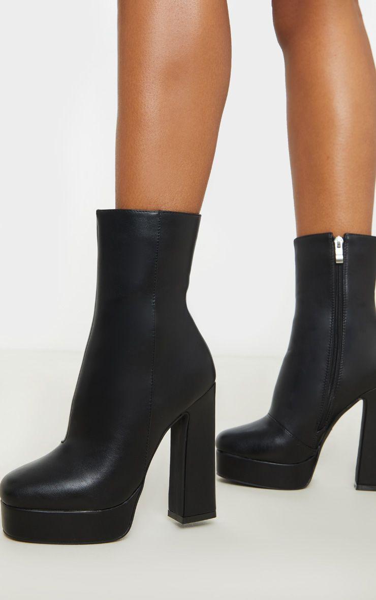 Black Platform Ankle Boot in 2020