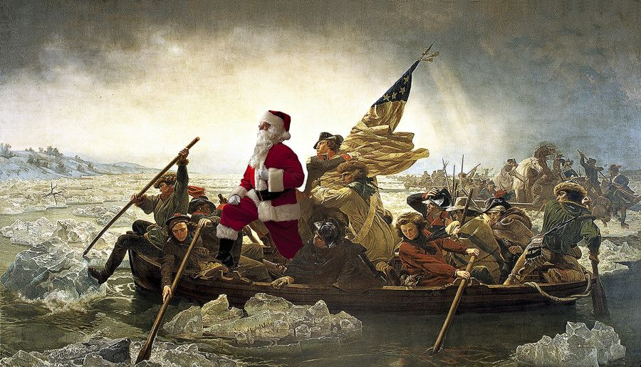 10 Classic Artworks Made Infinitely Better By The Presence Of Santa Claus