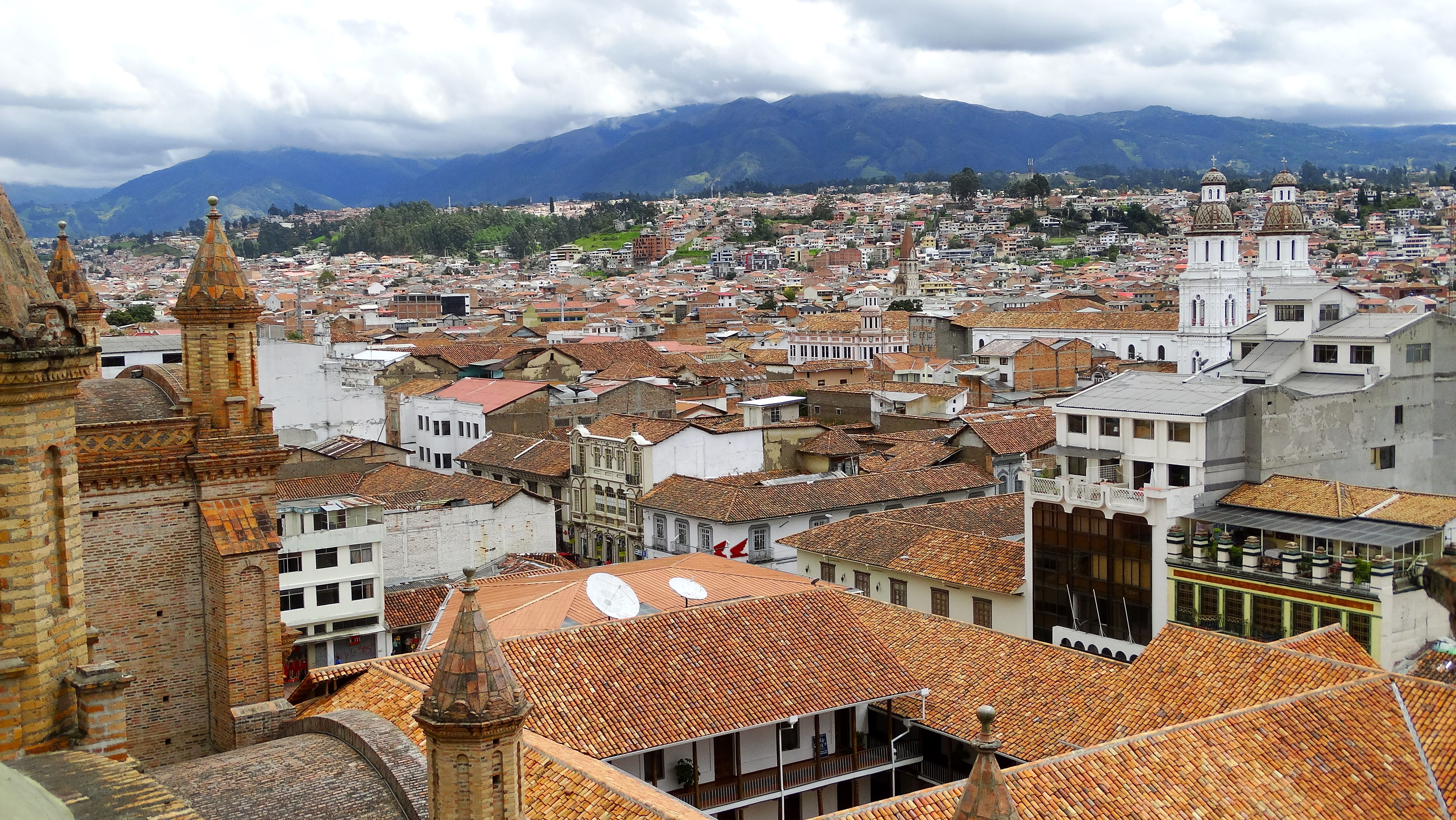 """View from the top of the """"New Cathedral"""" in Cuenca, Ecuador"""