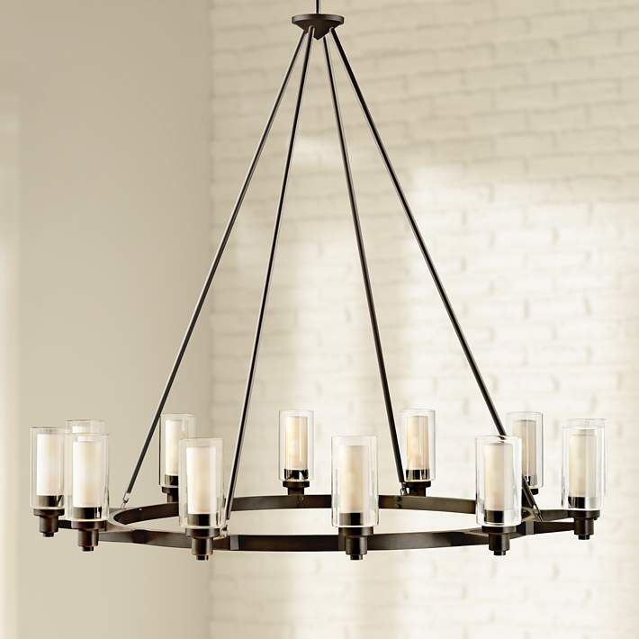 circolo collection olde bronze 44 1 2 wide chandelier chandeliers