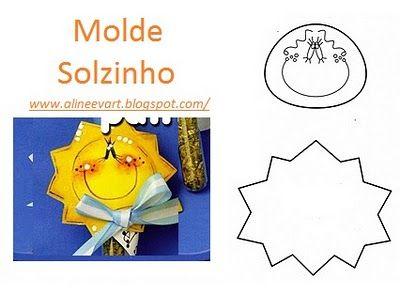 Moldes De Eva Molde Sol Modelos Pinterest Molde