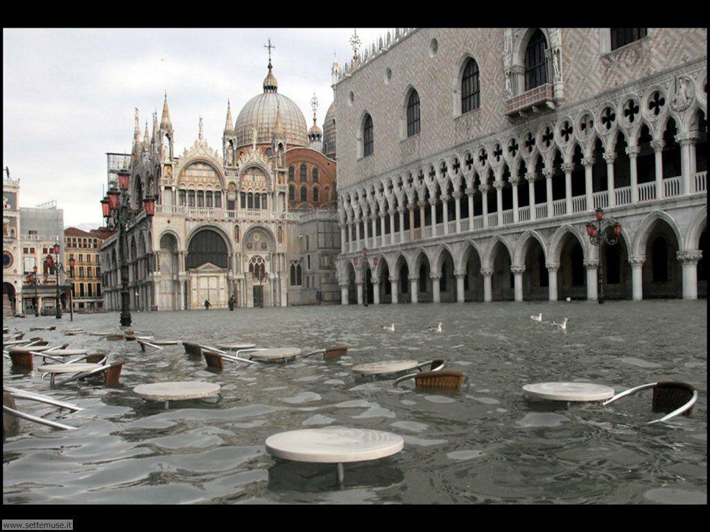 acqua alta Venice   Venezia con acqua alta 021
