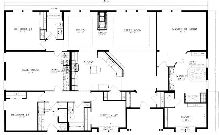 40x60 barndominium floor plans google search house for 4 bedroom barn house plans