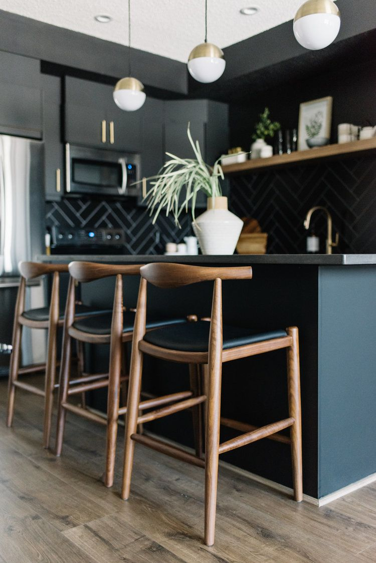 Black Kitchen Islands With Seating Ideas And Inspiration Hunker In 2020 Home Decor Kitchen Interior Design Kitchen Black Kitchen Island