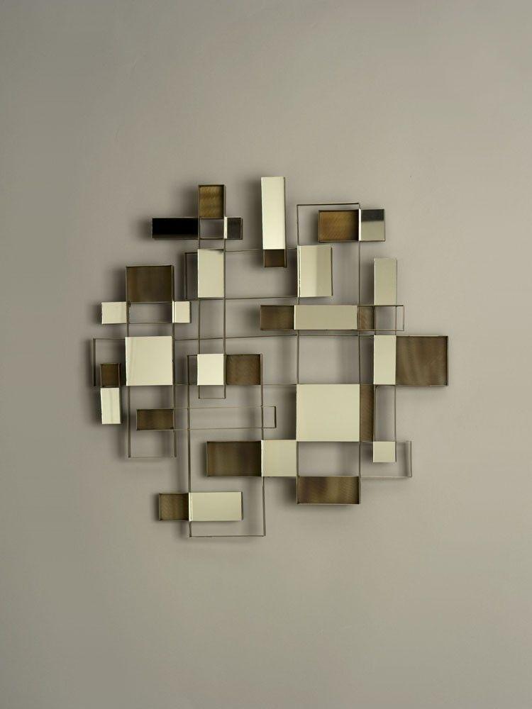 Nova lighting angles wall art mirror mirrors pinterest for Modern wall mirror