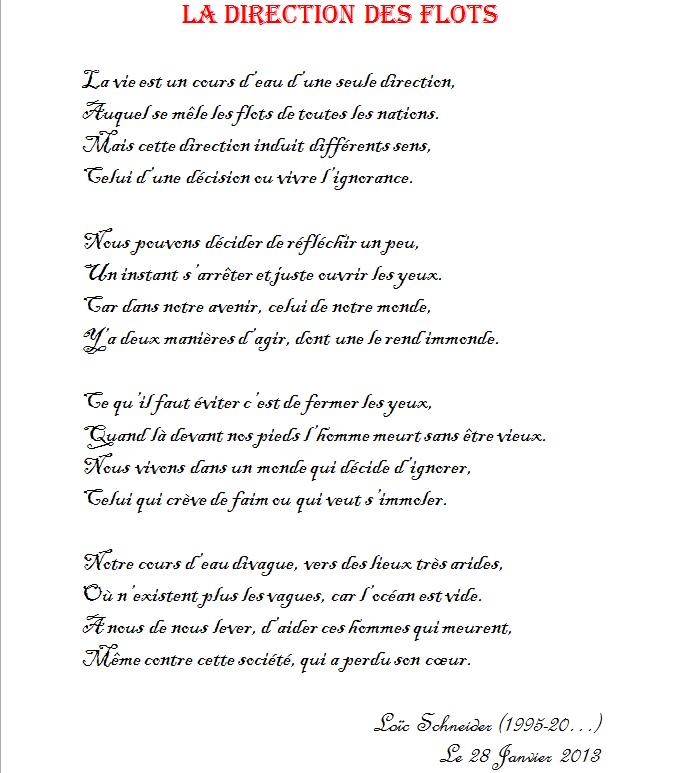 26 La Direction Des Flots Poeme Poesie Revolution Recueil De Poemes Cours D Eau Poeme