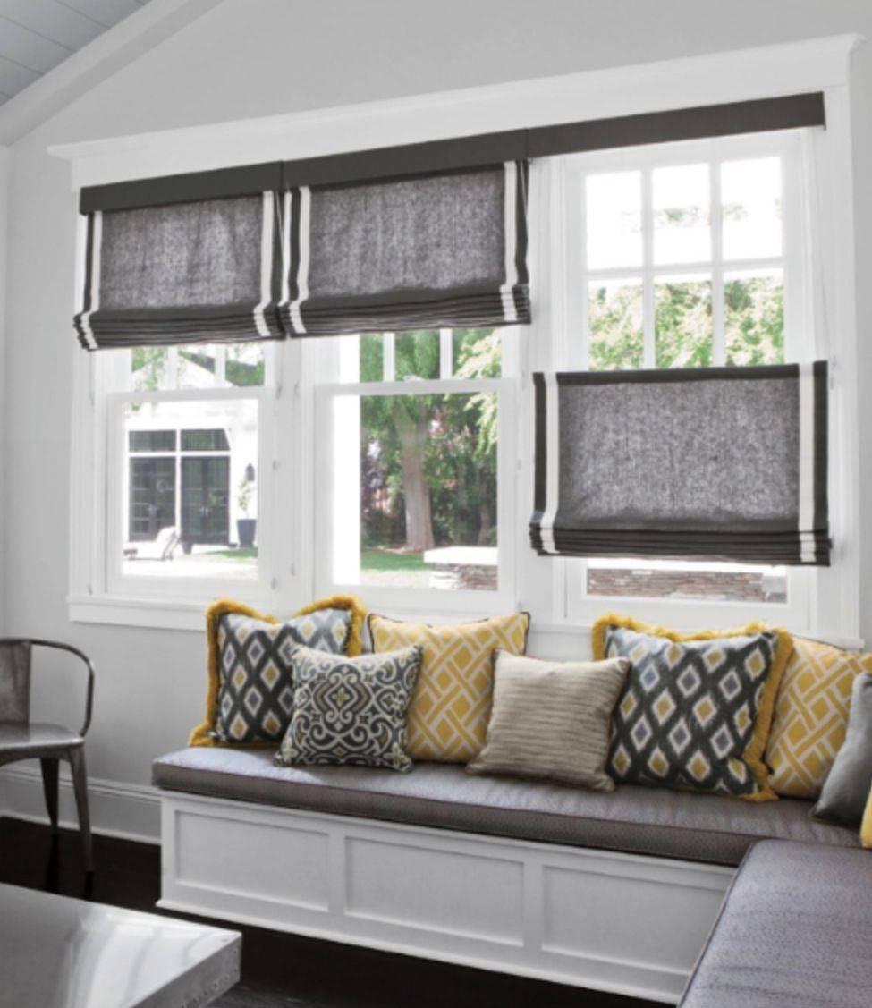 Smith + Noble Custom Window Treatments With Matching Throw