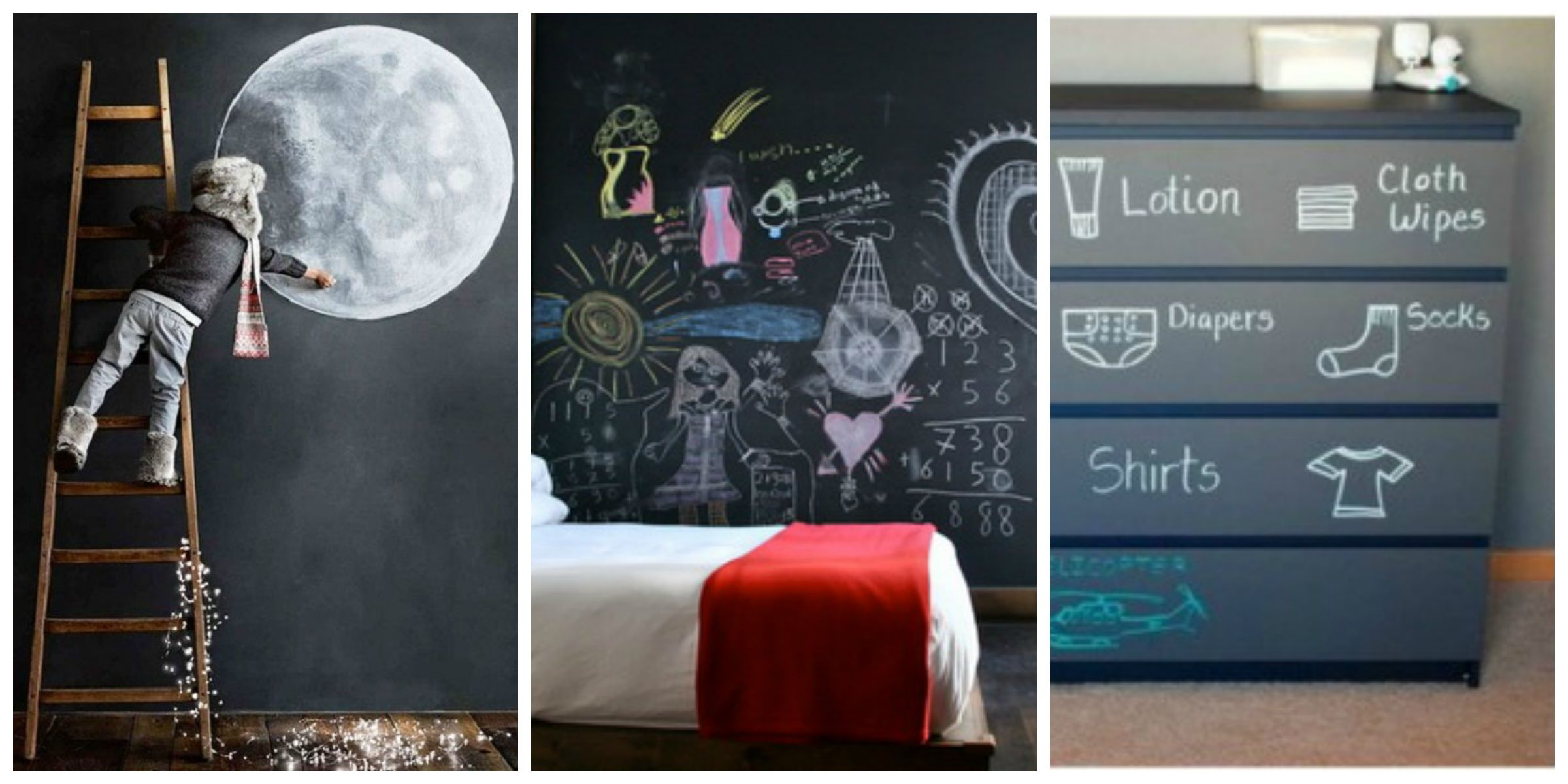 Chalk Paint Efecto Pizarra Necesitamos Pared O Mueble Para Pintar,