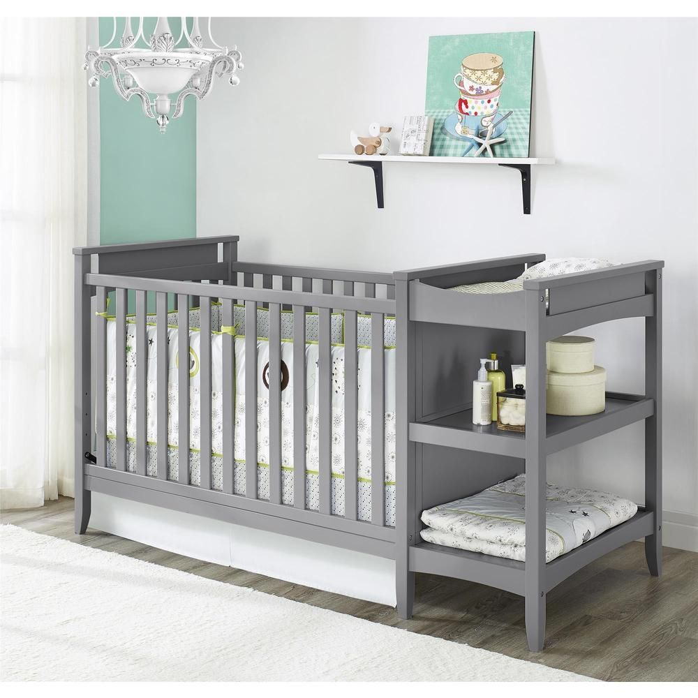 Clean Lines Of This Unique Crib