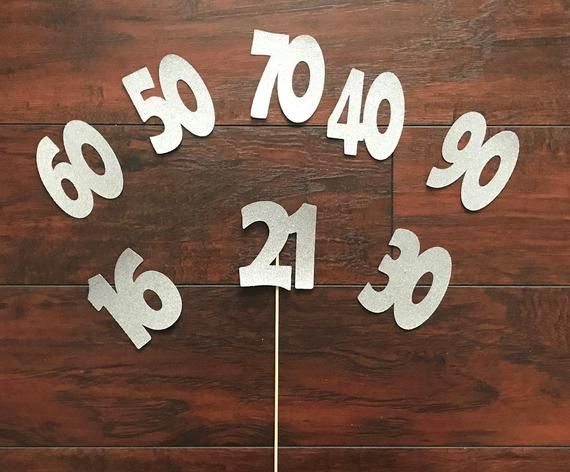 21st Birthday Decorations 21 Centerpiece Sticks Silver Glitter Finally Legal Decorations Glitter Table Number 21 Cake Topper 21st Photo Prop #21stbirthdaydecorations