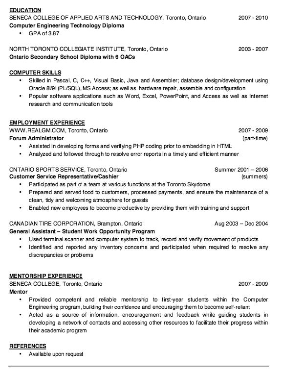 Resume Sample For Fresh Graduate Examples Resume Cv