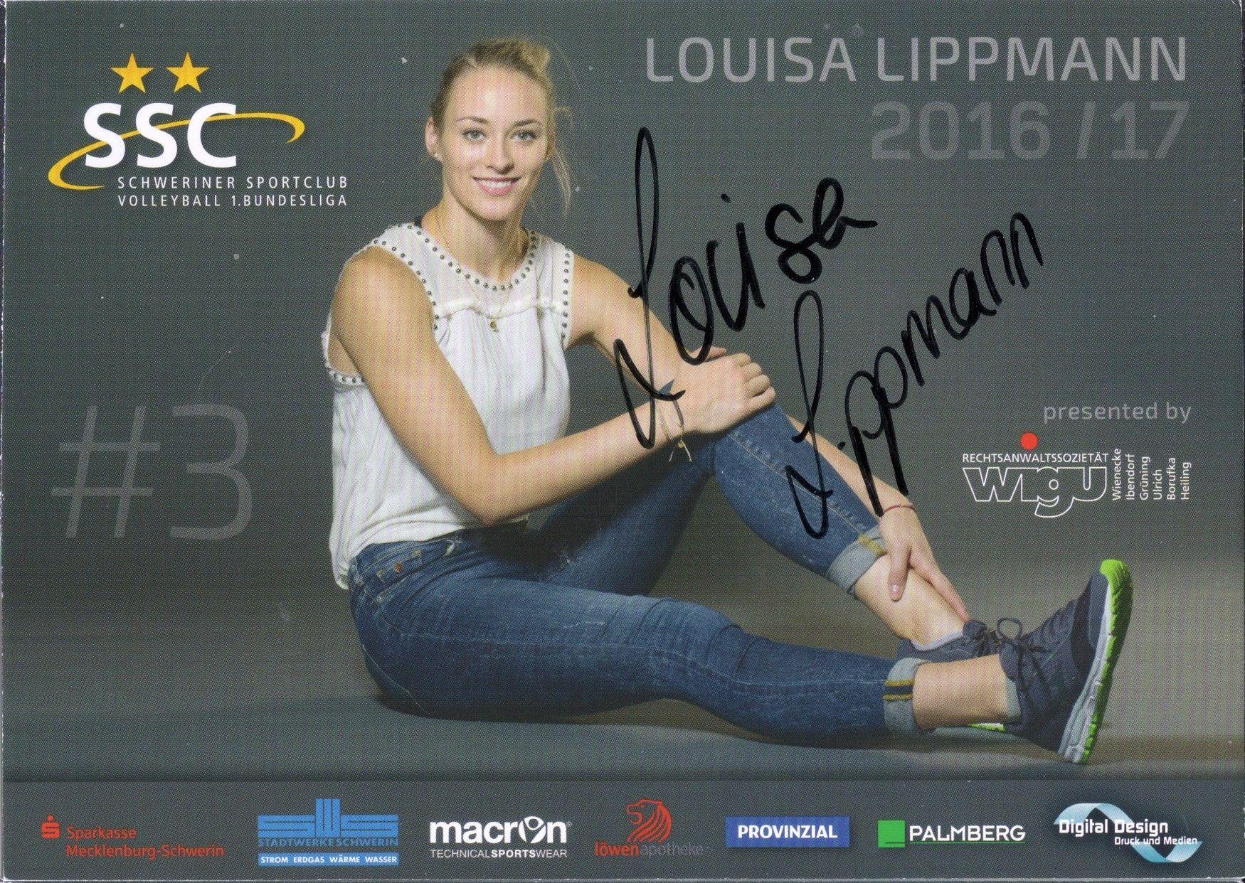 2016 17 Ssc Schweriner Louisa Lippmann Autograph