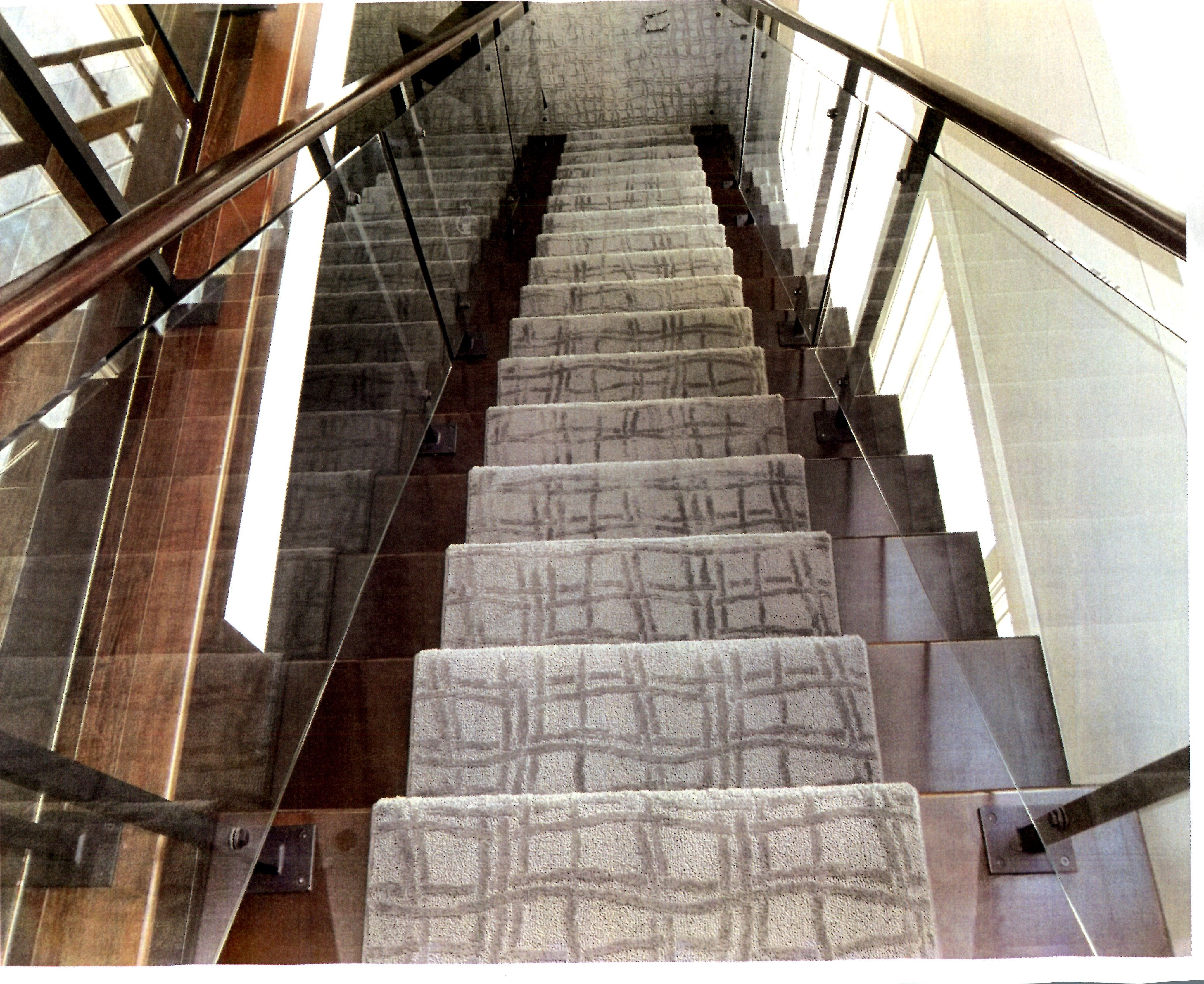 Modern Patterned Carpet For Stairs