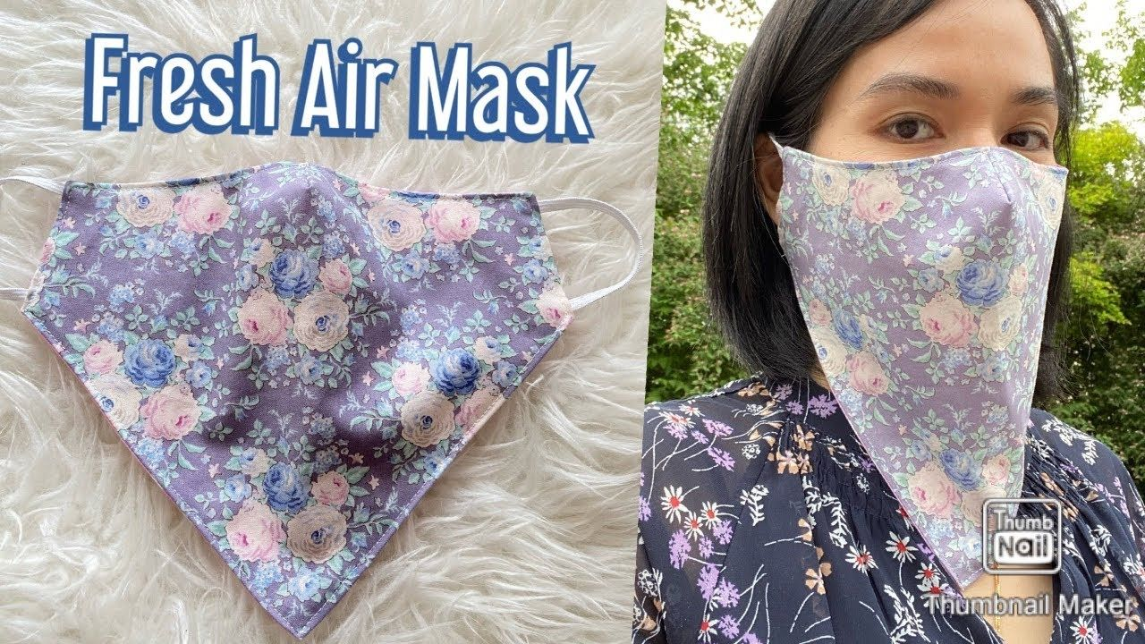 Photo of DIY Breathable Face Mask Nr.1 / Summer Face Mask / Fresh Air Mask / Sewing mask / coudre un masque