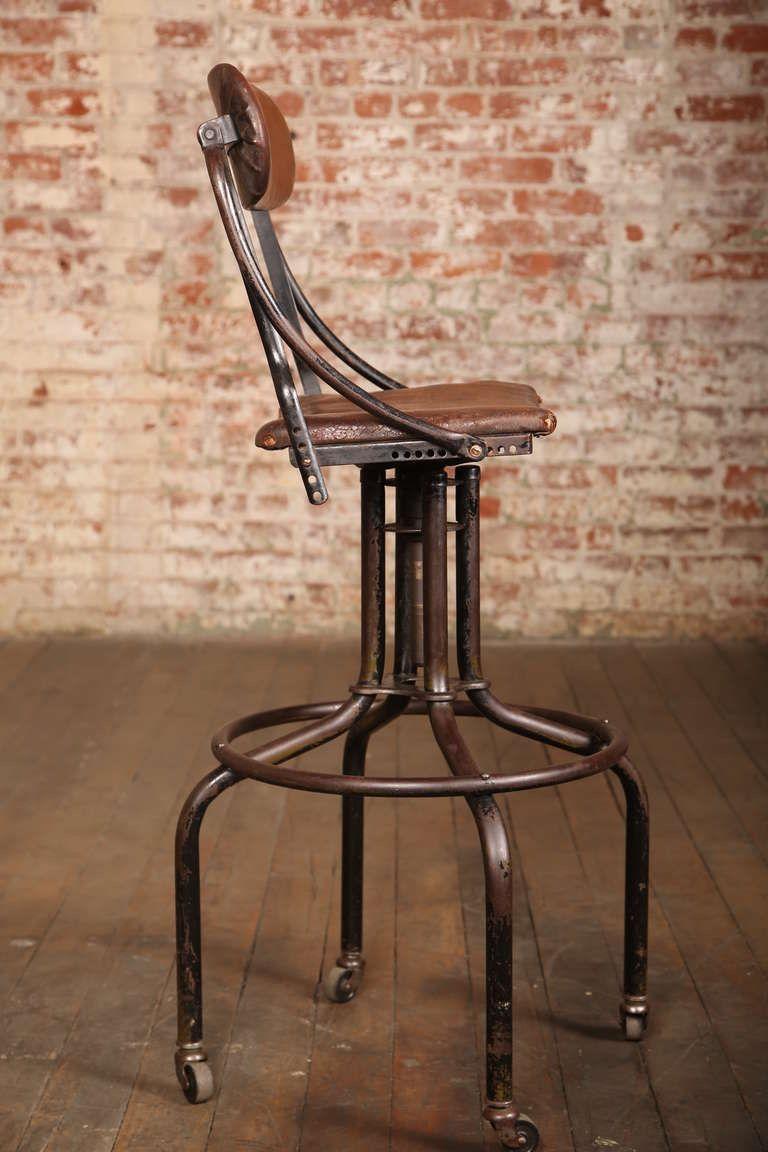 Vintage Leather Bar Stools Barhocker Hocker Und Sessel